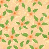 Orange modell för pastellfärgad färg för blomma sömlös Royaltyfri Fotografi