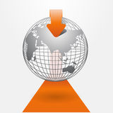 Orange Modern infographics Stock Photo