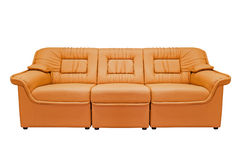 Orange modern sofa Royalty Free Stock Photos