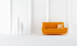 Orange modern style sofa Stock Image
