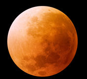 Orange Mond Stockbild