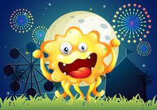 An orange monster at the carnival Royalty Free Stock Photo