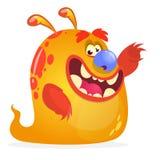 Orange monster cartoon. Halloween vector character. Stock Photo