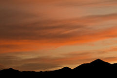 Orange Montana Sunset over the Hills in Beaver Cre Royalty Free Stock Images