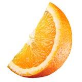 Orange. Morceau de fruit d'isolement sur le blanc Photos libres de droits