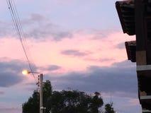 Orange morgon Arkivfoto