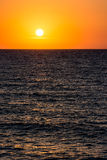 Orange Morning Sky Sunrise. Over The Ocean Stock Images