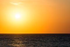 Orange Morning Sky Sunrise. Over The Ocean Royalty Free Stock Photo