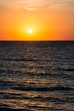 Orange Morning Sky Sunrise. Over The Ocean Royalty Free Stock Photography