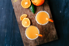 Orange morotcoctail Royaltyfria Foton