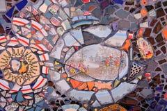 Orange Mosaic Stock Image