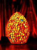 Orange mosaic lamp Stock Image