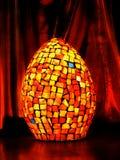 Orange mosaic lamp Stock Image