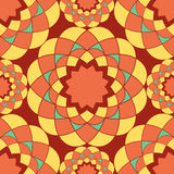 Orange mosaic seamless pattern Royalty Free Stock Photography