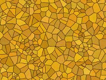 Orange mosaic tiles Stock Photography