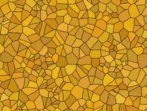 Orange mosaic tiles Stock Photography