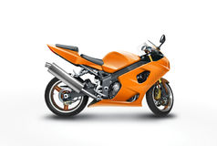 Orange motorbike stock photos