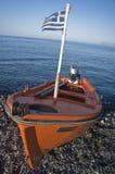 Orange Motorboat Royalty Free Stock Images