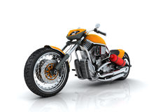 Orange motorcycle Royalty Free Stock Image