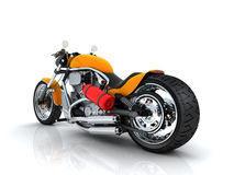 Orange motorcycle Stock Image