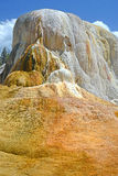 Orange Mound in Yellowstone National Park. Stock Photos