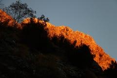 Alpi Apuane, Massa Carrara, Tuscany, Italy. Mountain illuminated stock photo