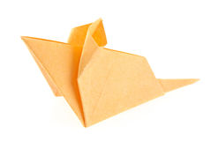 Orange mouse of origami Stock Images