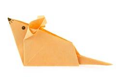 Orange mouse of origami. Stock Photos