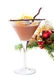Orange mousse för choklad med sefir och grated orange piff Royaltyfri Bild