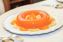 Orange mousse Stock Photos