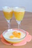 Orange mousse Stock Image