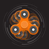 Orange moving spinner Stock Photos