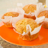 Orange muffins Stock Images