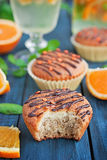 Orange muffins Stock Image