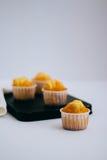 Orange Muffins Lizenzfreies Stockfoto