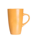 Orange mug empty blank for coffee or tea Stock Photos
