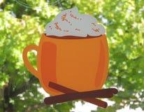 Orange Mug with Foam Royalty Free Stock Image