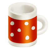 Orange mug Stock Photography