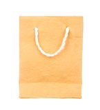 Orange mulberry paper bag isolated on white Royalty Free Stock Photography
