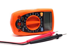 Orange multimeter Stock Images
