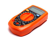 Orange multimeter Royalty Free Stock Images
