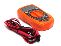 Orange multimeter Royalty Free Stock Image