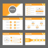 Orange multipurpose Brochure flyer leaflet template flat design Stock Photography