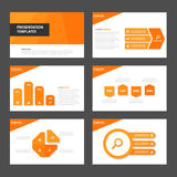 Orange Multipurpose Infographic elements and icon presentation template flat design set advertising marketing brochure flye Royalty Free Stock Photography