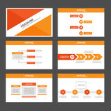 Orange Multipurpose Infographic elements and icon presentation template flat design set for advertising marketing brochure flyer Royalty Free Stock Photography