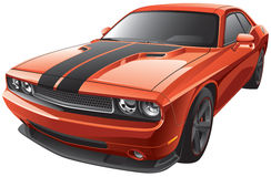 Orange Muscle Car Royalty Free Stock Images
