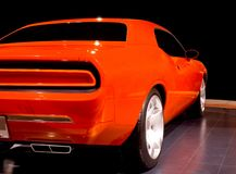 Orange Muscle Car Royalty Free Stock Photo