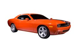 Orange Muscle Car Stock Photography