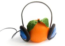 Orange music Stock Photography