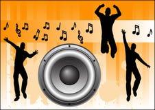 Orange Music Background Stock Photos